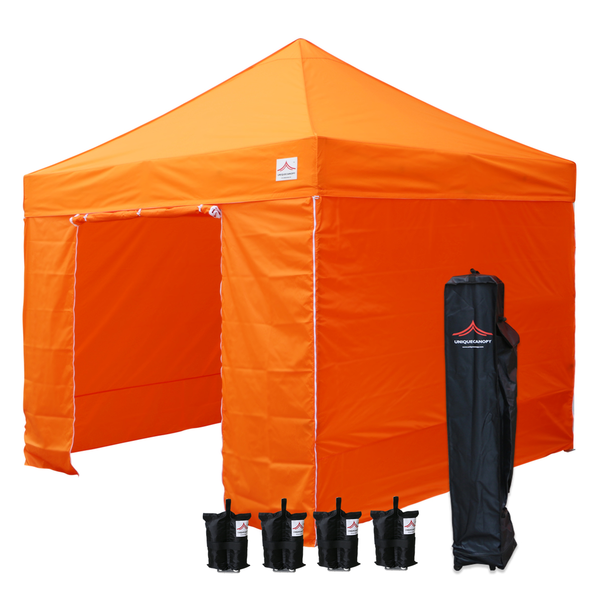 10x10 canopy tent with orange sides