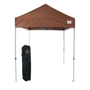 5x5 event pop up brown canopy tent