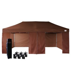 10x20 easy pop up canopy tent with sidewalls